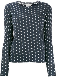 Forte Forte Polka Dot Jumper Blue