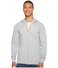 Dc Rebel Zip Hoodie Grey Heather Men's Sweatshirt Gray