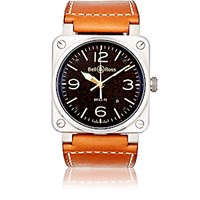 Bell And Ross Men's Br 03 92 Golden Heritage Watch Brown
