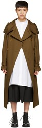 Ys Brown Oversized Trench Coat