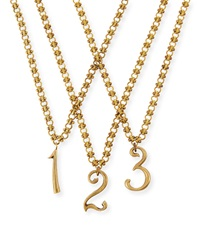 Plaza Number Necklace Lulu Frost