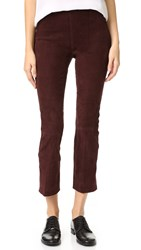 Vince Stretch Suede Leggings Raisin