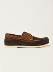 Topman Brown Tan Leather Rapid Boat Shoes