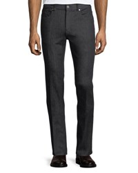 Zegna Sport Slim Leg Stretch Denim Jeans Black