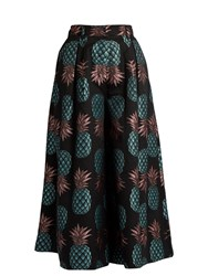 House Of Holland Pineapple Jacquard Culottes Black