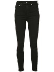 Alice Olivia Crystal Embellished Skinny Trousers Black