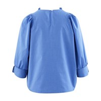 Atlantique Ascoli Blouse In Cotton Sky Blue
