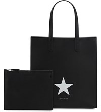 Givenchy Stargate Large Leather Tote Black White