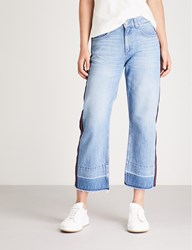 Claudie Pierlot Player Side Stripe Flared High Rise Jeans