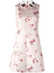 Red Valentino Lady Bug Embellished Collar Dress Nude Neutrals