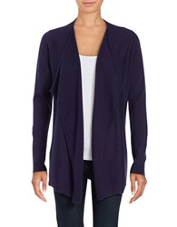 Lord And Taylor Mini Cable Knit Flyaway Cardigan Evening Blue