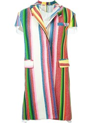 Sacai Striped Coat Multicolour