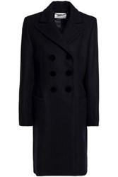 Goat Woman Double Breasted Wool Blend Coat Navy