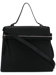 Victoria Beckham Flat Zipped Medium Tote Black
