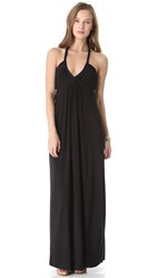 Tbags Los Angeles Maxi Dress With Braided Straps Black