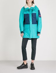 The North Face Fantasy Ridge Shell Coat Green Blue Teal