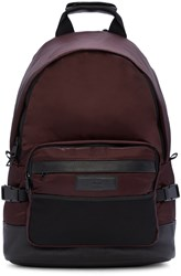 Ami Alexandre Mattiussi Burgundy Nylon Backpack
