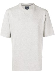 Woolrich Ribbed Detailed T Shirt Grey