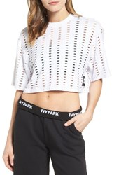 Ivy Park Women's Laser Cut Crop Top