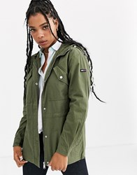 Tommy Jeans Essential Parka Jacket Green