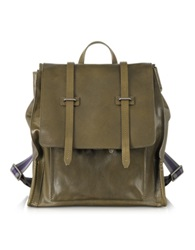 The Bridge Ascott Olive Green Leather Backpack
