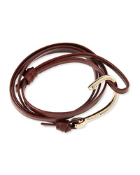 Miansai Hook Leather Bracelet Brandy