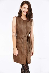 Shades Of Grey By Micah Cohen Trench Shift Dress Khaki