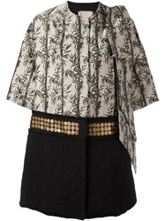 Antonio Marras Padded Embellished Coat Grey