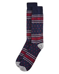 Bloomingdale's The Men's Store At Cashmere Blend Snowflake Socks Navy