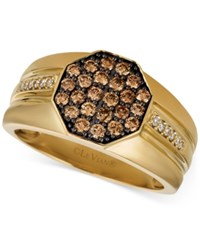 Le Vian Gents Men's Diamond Cluster Ring 3 4 Ct. T.W. In 14K Gold Yellow Gold