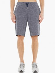 Sunspel Blue Jacquard Shorts Navy