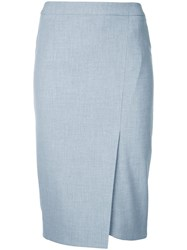 Estnation Fitted Pencil Skirt Women Polyester 36 Grey