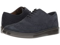 Hush Puppies Shiba Brogue Oxford Navy Nubuck Lace Up Cap Toe Shoes Blue