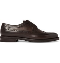 Ermenegildo Zegna Flex Leather Wingtip Brogues Brown