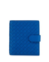 French Woven Leather Wallet Cobalt Bottega Veneta