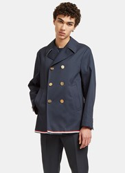 Thom Browne Mackintosh Pea Coat Navy
