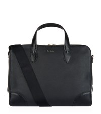Paul Smith Embossed Leather Briefcase Black
