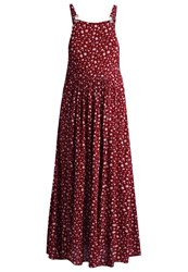 Superdry Festival Maxi Dress Burgundy Red