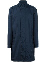Z Zegna Light Shell Raincoat Blue