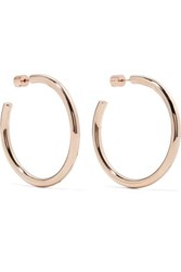 Jennifer Fisher Baby Lilly Rose Gold Plated Hoop Earrings One Size