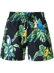 Stella Mccartney Exotic Print Swim Shorts Blue