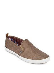 Ben Sherman Bristol Perforated Slip On Sneakers Taupe