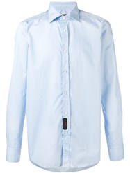 Massimo Piombo Mp Plain Shirt Blue