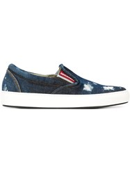 Dsquared2 Denim Slip On Sneakers Blue