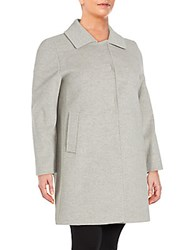 Cinzia Rocca Long Sleeve Wool And Cashmere Jacket Light Grey