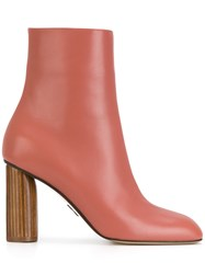 Paul Andrew Tanase Ankle Boots Calf Leather Goat Skin Pink Purple
