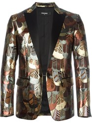 Dsquared2 Metallic Jacquard Blazer Multicolour