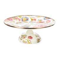 Mackenzie Childs Morning Glory Pedestal Platter Multi