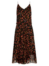Diane Von Furstenberg Benita Dress Black Pink