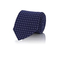Ralph Lauren Black Label Geometric Pattern Necktie Navy